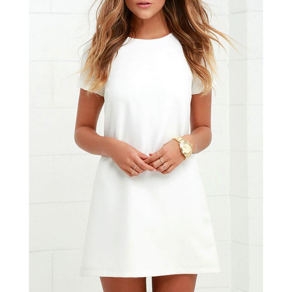 Neue 2019 Sexy Shift Kleid Büro Damen Arbeitskleidung Plus Größe Elegante Weiße Kleid Sommer Kurzarm Bodycon Beiläufige Kurze Kleid