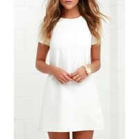 Novo 2019 Sexy Vestido Mudança Senhoras Escritório Workwear Plus Size Elegante Vestido Branco De Verão de Manga Curta Bodycon Casual Vestido Curto