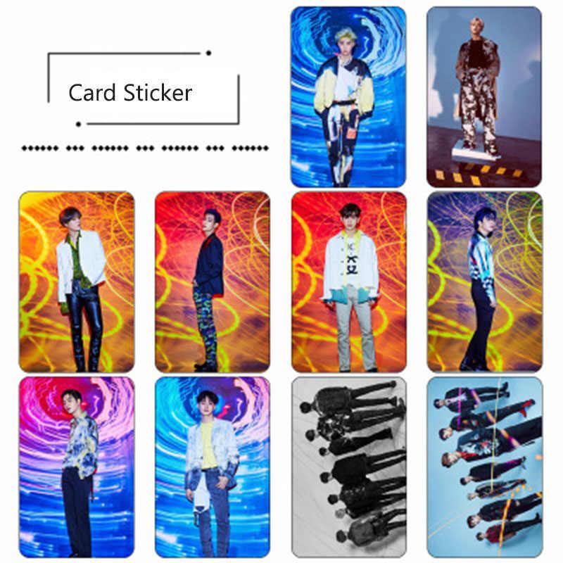 10 قطعة/المجموعة كوريا Got7 جديد ألبوم الغزل أعلى التصويرية حافلة ملصقا ID بطاقة ملصقا صغار علامة جاكسون bambam LJ29