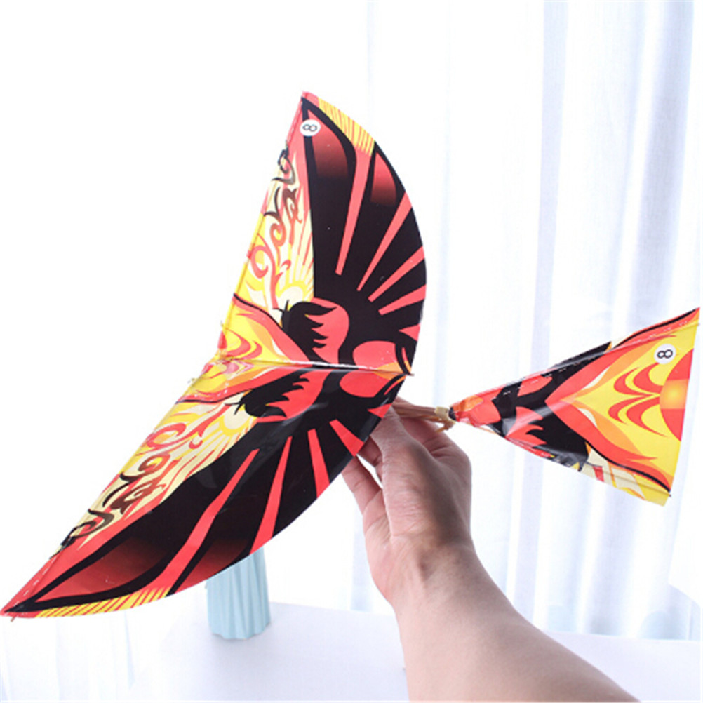 1Pc Assembly Gift Science Kite Toys For Children Adults Handmade DIY Rubber Band Power Bionic Air Plane Ornithopter Birds Models