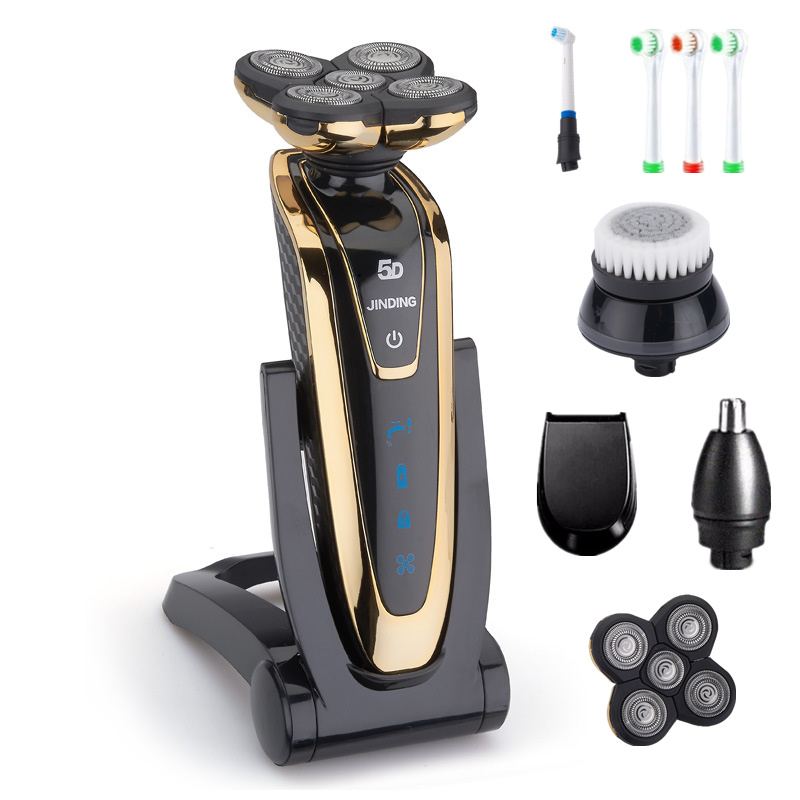 Rechargeable Electric Shaver Whole Body Washing 5D Floating Head Men Shaving Machine Waterproof Electric Razor D42