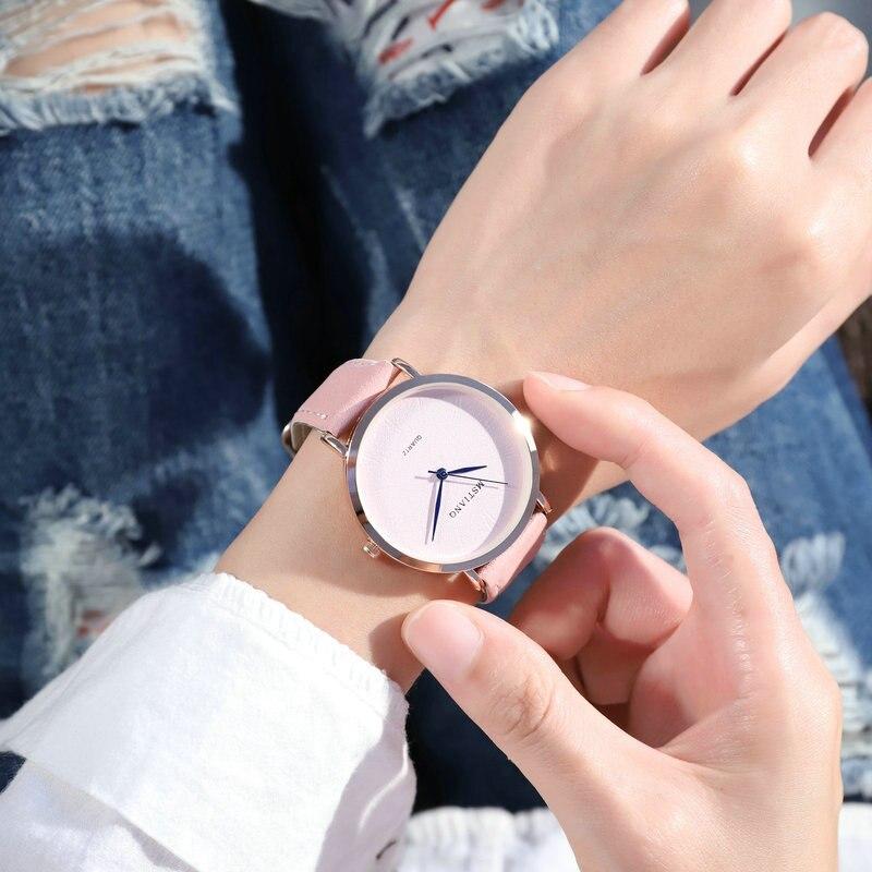 New Couple Watch Quartz Men's Ladies Wrist Watches Analog Brown Fashion Simple Leather Strap Valentine Love Birthday Gift
