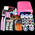Biutee 36W UV GEL Pink Lamp & 12 Color UV Gel False Nail Tips Cutter Nail Art DIY Tool Kits Sets