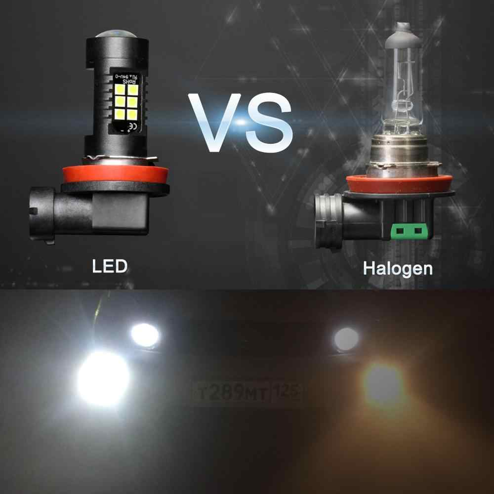 2Pcs H8 H11 Led HB4 9006 HB3 9005 Fog Lights Bulb 3030SMD 1200LM 6000K White Car Driving Running Lamp Auto Leds Light 12V 24V