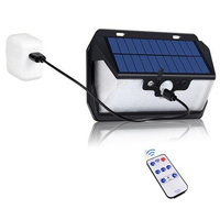800lm Waterproof Garden Solar Light Outdoors Led Wall Lamp Usb Leds Remote Control Interaction Powered 55LED Solar USB Charging