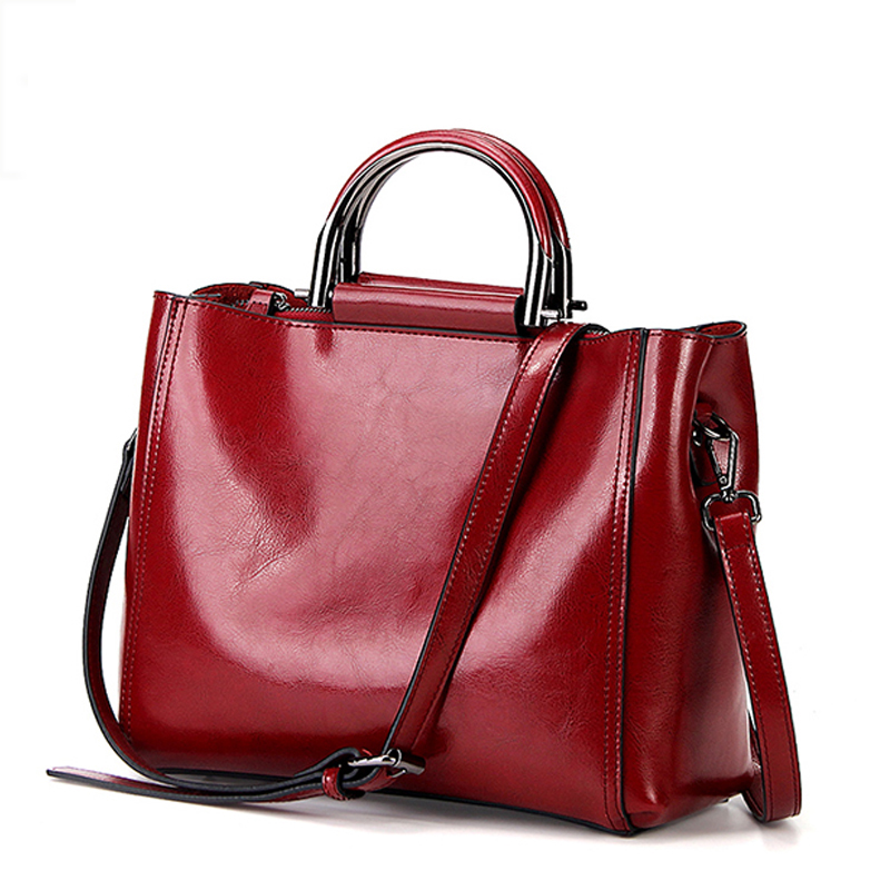 Fashion Leather Handbags Big Women Bag High Quality Casual Tote Bags Vintage Women Shoulder Bag Large Capacity Women Handbags-in Top-Handle Bags from Luggage & Bags    1
