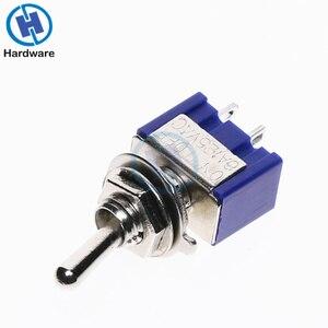 Image 3 - Mini interrupteur à bascule 10 pièces, MTS 101, 2 broches, SPST, 6A 250V AC