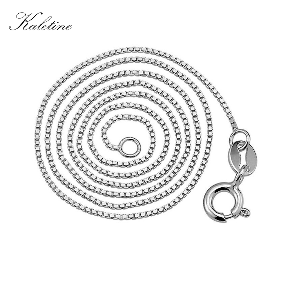 456f662e6367 ₪Carraton NSYS6001 Fashion 925 Sterling Silver Box Chain Necklace - a815