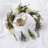 2019 novo Mori nupcial garland grinalda da noiva do casamento hairband acessórios para o cabelo flor