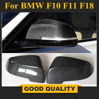 Carbon Fiber Replacement Car Side Rearview Mirror Covers Caps For BMW 5 Series F10 F11 F18 2014 - 2016 7 Series F02 2010 - 2014