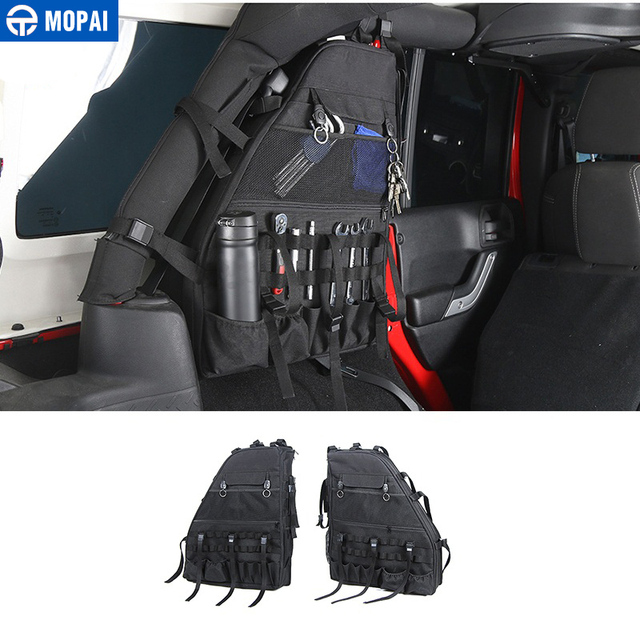 MOPAI Canvas Car Side Door Anti-Roll Storage Bag for Jeep Wrangler JK 2007-2017 Car Interior Accessories Car Styling