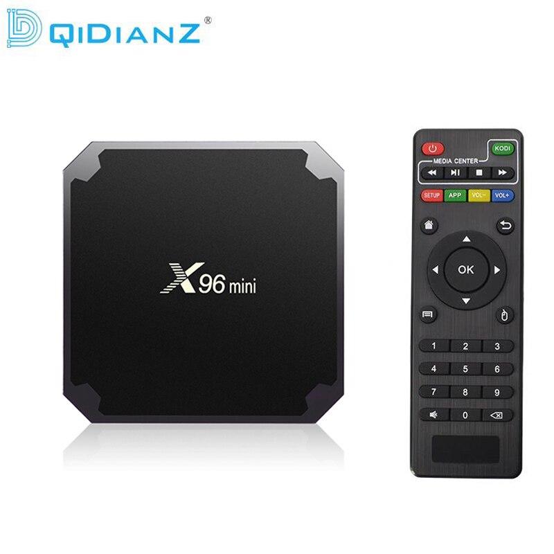 (Доставка из Москвы)DQiDianZ X96mini Android 7.1 X96 mini четырехъядерный Smart TV BOX ТВ Бокс S905W поддерживает 2.4G беспроводной WIFI ТВ приставка+IR кабель