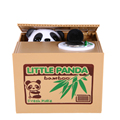 Mischief Panda Saving Box Toys Funny Animals Panda Automatic Electric Stole Coin Piggy Bank As Gift Free Shipping