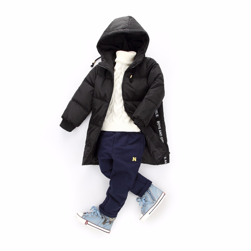 2017 Girls boys Winter Light White Duck Down Coat Kids Jacket Hooded Long Sections Children Clothes  Warm  Outerwear Snowsuit 2013 winter boys and girls long coat jacket large clothes