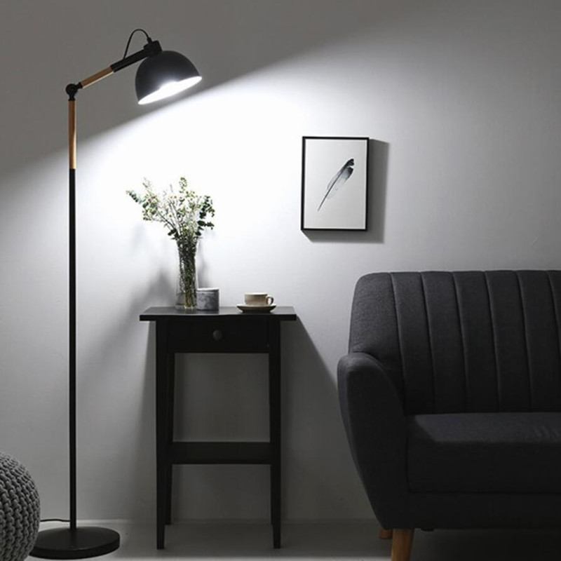 Modern Design Wooden Led Floor Lamp For