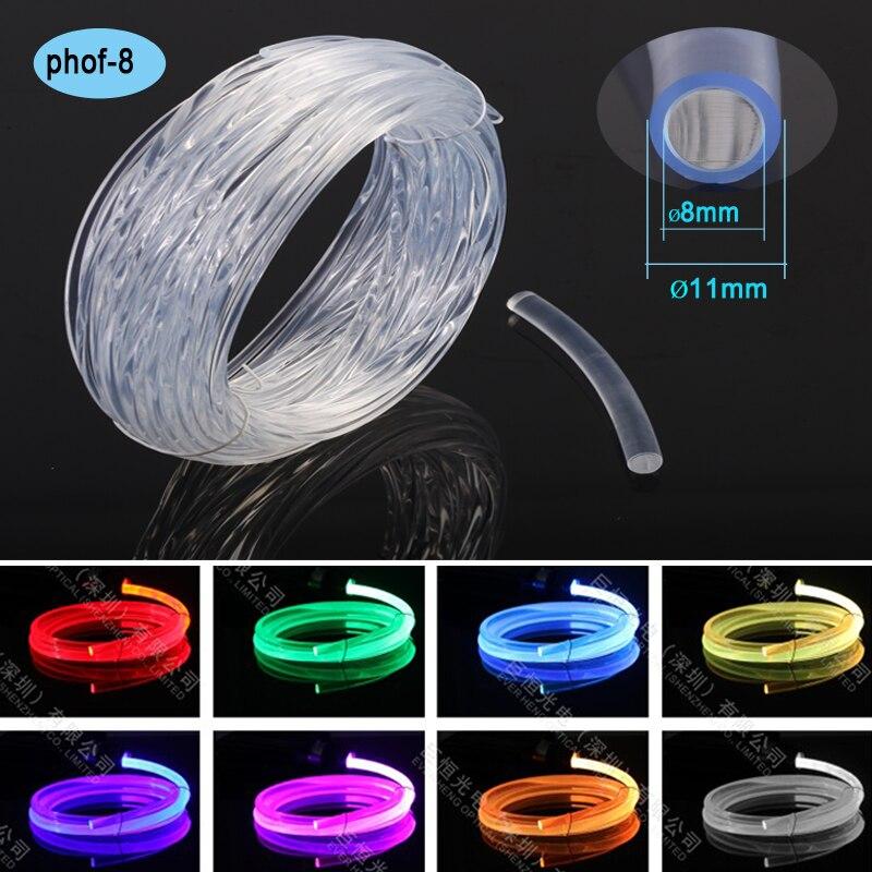 Боковое светящееся оптическое волокно для украшения освещения для Джейсона Манна