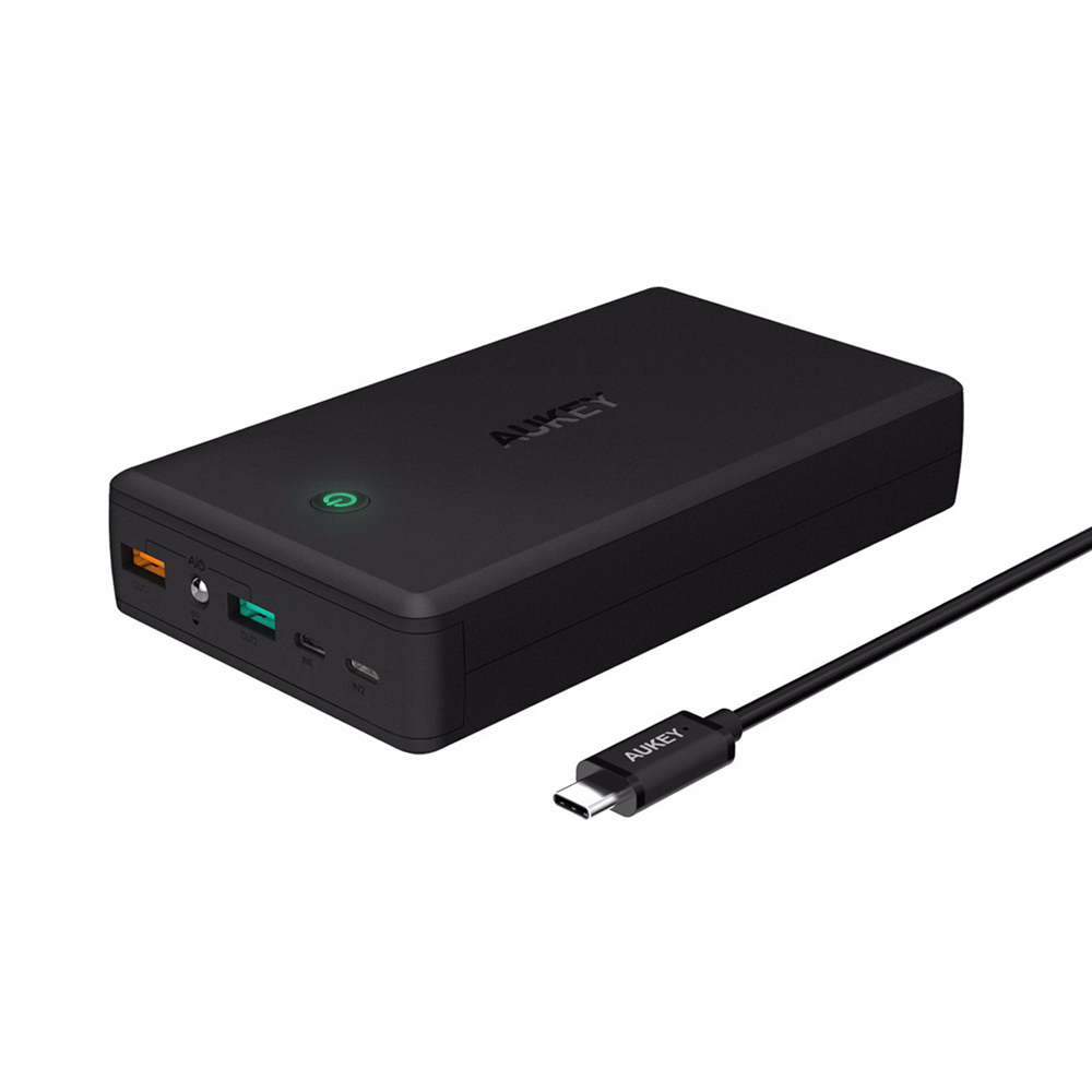 AUKEY 30000mAh Quick Charge 3.0 Power Bank Dual USB Output ...