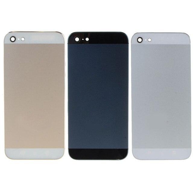 Задняя Крышка для iPhone 5 Ближний Рамка Рамка Midframe Корпус Батареи дверь Задняя крышка Задняя Крышка для iphone 5 W0D06 T18 0.4