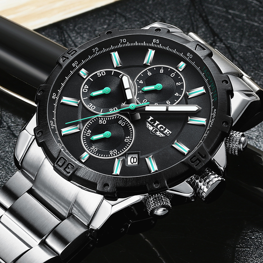 LIGE Watch Men Fashion Sport Quartz Clock Mens Watches Top Brand Luxury Full Steel Business Waterproof Watch Relogio Masculino lige gold watch men new mens watches top brand luxury business clock man full steel fashion sport quartz watch relogio masculino