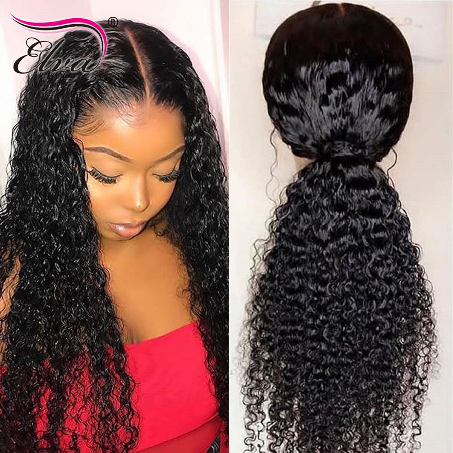 360 Lace Frontal Wig Glueless Curly Virgin Human Hair Wigs For Black Women Pre Plucked Lace