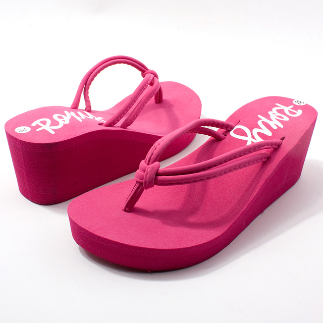 f2247989e3d943 Women s shoes wedges slippers high-heeled shoes wedges platform shoes flip  flops sandals high-heeled slippers