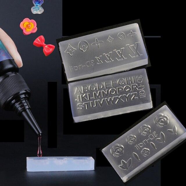 3D Acryl Form für Nagel Kunst Dekorationen DIY Polnischen Werkzeug Silikon Formen Nail art Vorlagen Muster Form Nägel Kunst Salon design