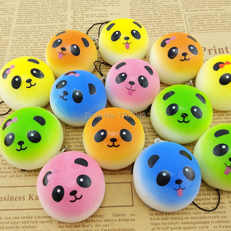Panda Bun Squishy Supplier : Aliexpress.com : Buy 30PCS 4CM mini Colorful Panda Squishy Bread Cartoon Simulation Food ...