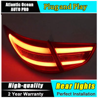 A&T Car Styling Accessories for Hyundai IX35 Tuscon LED Taillights 2010 2013 IX35 Tail Lamp Rear Lamp DRL+Brake+Park+Signal led