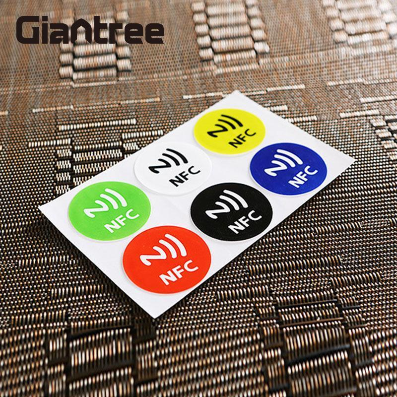 giantree 6Pcs Waterproof NFC Smart Tags Smartphone Adhesive RFID Label Tag Sticker Compatible with All Phones giantree 6pcs waterproof nfc smart tags smartphone adhesive rfid label tag sticker compatible with all phones