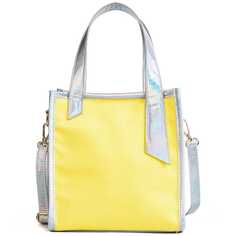 Trend Handbags Bags Designer Bucket Bag PVC&Canvas Shoulder Bag Laser Handbag Zipper Totes
