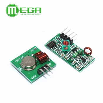 RF wireless receiver module & transmitter module board for arduino super regeneration 315/433MHZ DC5V (ASK /OOK) image