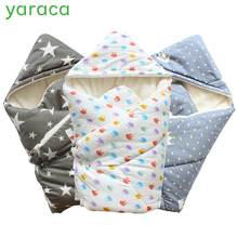 Baby Swaddle 90x90cm Baby Blanket Thick Warm Berber Fleece Envelopes For Newborn