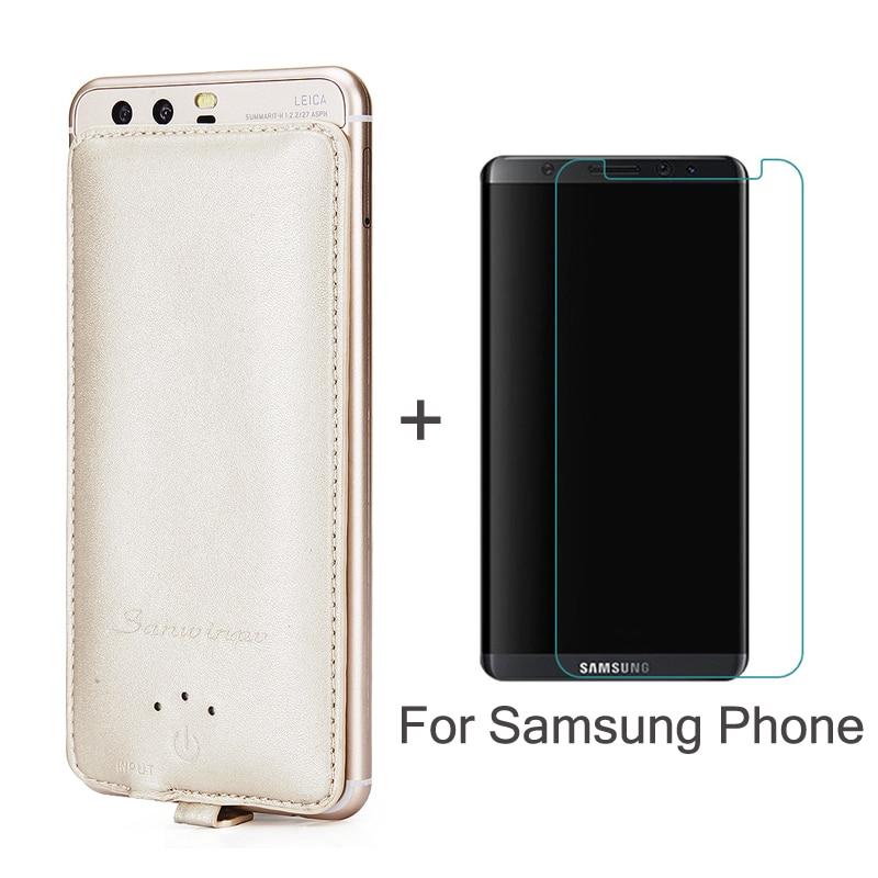 imágenes para Caso Del Cargador de batería 4000 mAh banco de Potencia de copia de seguridad Para Samsung Galaxy A5 A7 2016 J5 J7 S 5 6 7 8 Juncia Regalo Más Templado vidrio