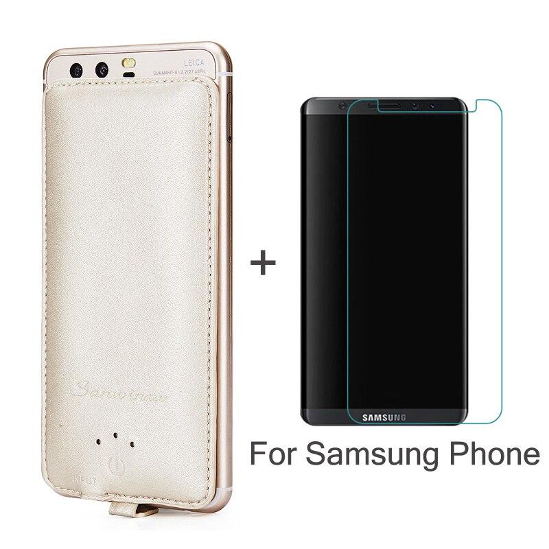 Chargeur de batterie 4000 mah de secours de banque de Puissance Pour Samsung Galaxy A5 A7 2016 J5 J7 S 5 6 7 8 carex Plus Cadeau En Verre Trempé