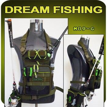 цена на Dream Fishing Multifunction Waist Bag 17x6x22cm Fishing Bag + Lure Box 1200d Nylon Large Capacity Fishing Tackle Bag For Outdoor