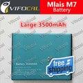 Mlais Bateria M7 3500 mAh 100% Novo Telefone Celular Substituição de backup Bateria Para Mlais M7 Telefone Mais Móvel