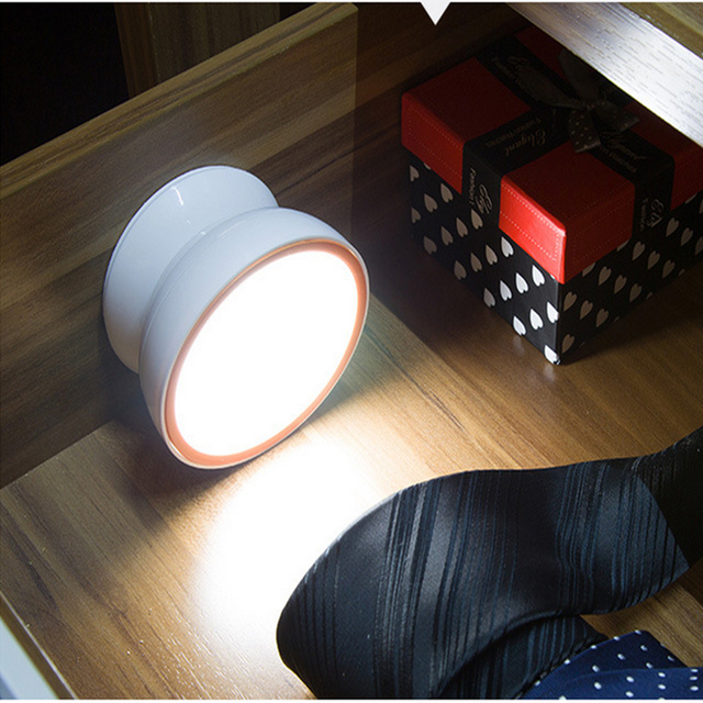 360 Graus de Rotação da lâmpada alimentado por bateria LEVOU Noite Sensor de Luz Inteligente Sensor de Movimento de Iluminação Noturna Controle de luz da noite do diodo emissor de luz