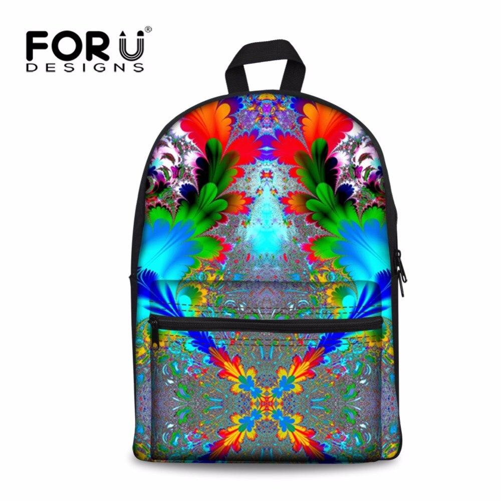 Forudesigns/модные Цветочный принт Школьные ранцы для Обувь для девочек, дети Повседневное плеча Школа Книга Сумка, дети холст школьный Bookbag