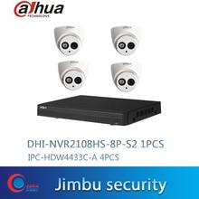 Dahua zestaw cctv NVR2108HS 8P S2 8CH 8POE sieciowy rejestrator wideo w rozdzielczości Full HD 1080P rejestrator z 1SATA 2USB interfejs