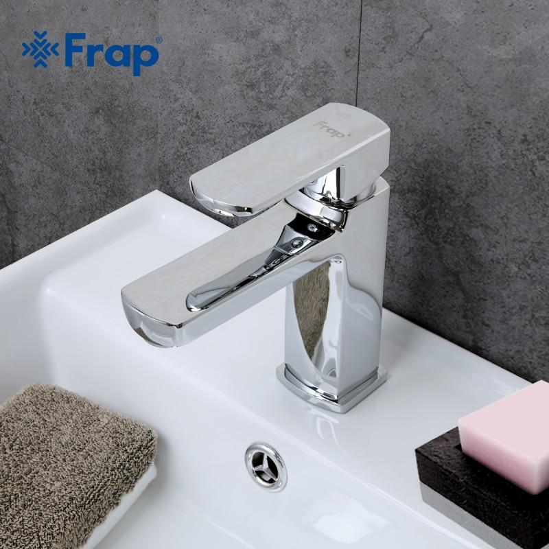 Frap new bath Bacia torneiras estilo Moderno Torneira pia do banheiro misturador de água da torneira Torneira Da Bacia Quente e fria Única punho F1073