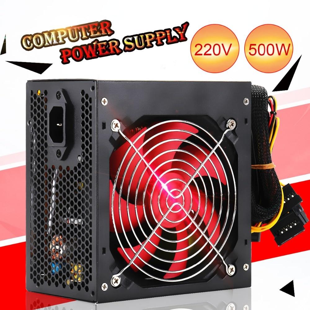 Quiet 400W/500W Desktop BTC Miner PC Power Supply With SATA 20PIN+4PIN Power Supply ATX Power Switching For Miner Mining