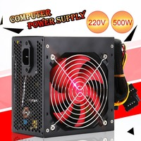 Quiet 400W/500W Desktop BTC Miner Power Supply With SATA 20PIN+4PIN Power Supply ATX Power Switching For Miner Mining