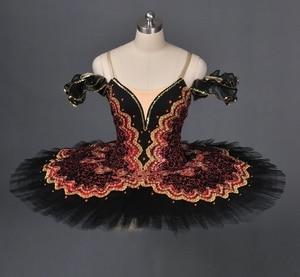 Image 2 - Preto cisne clássico ballet tutu ballet traje adulto vermelho profissional ballet tutu preto ballet tutus ponto dança desempenho