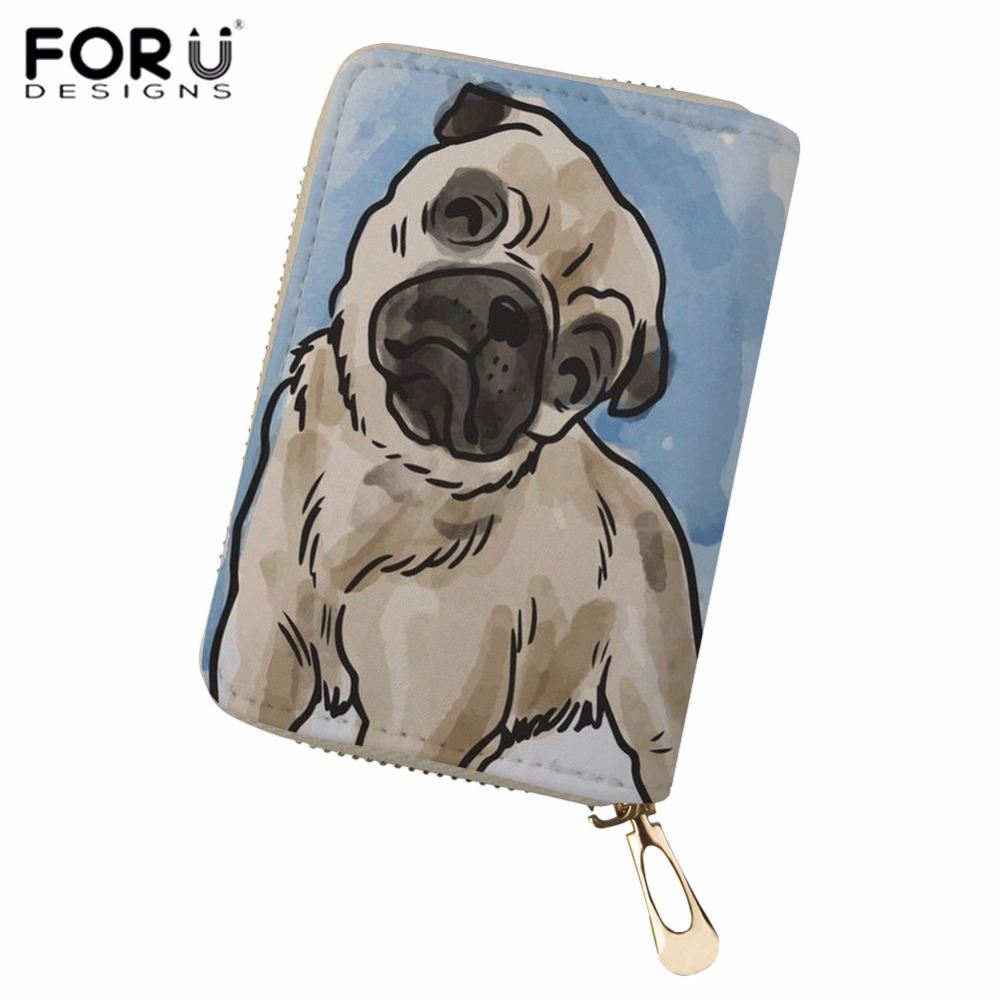 Coin Purses & Holders Bulldogs Corgi Pet Women Credit Card Holder Pu Leather Waterproof Zipper Protective Bag For Name Id Card Wallet Cardholder Cover