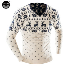 2017 Men'S Fashion Animal Print Sweater Men Leisure Slim Pull Homme O-Neck Long-Sleeved Sweater Solid Sweater Sweater Men XXL YU