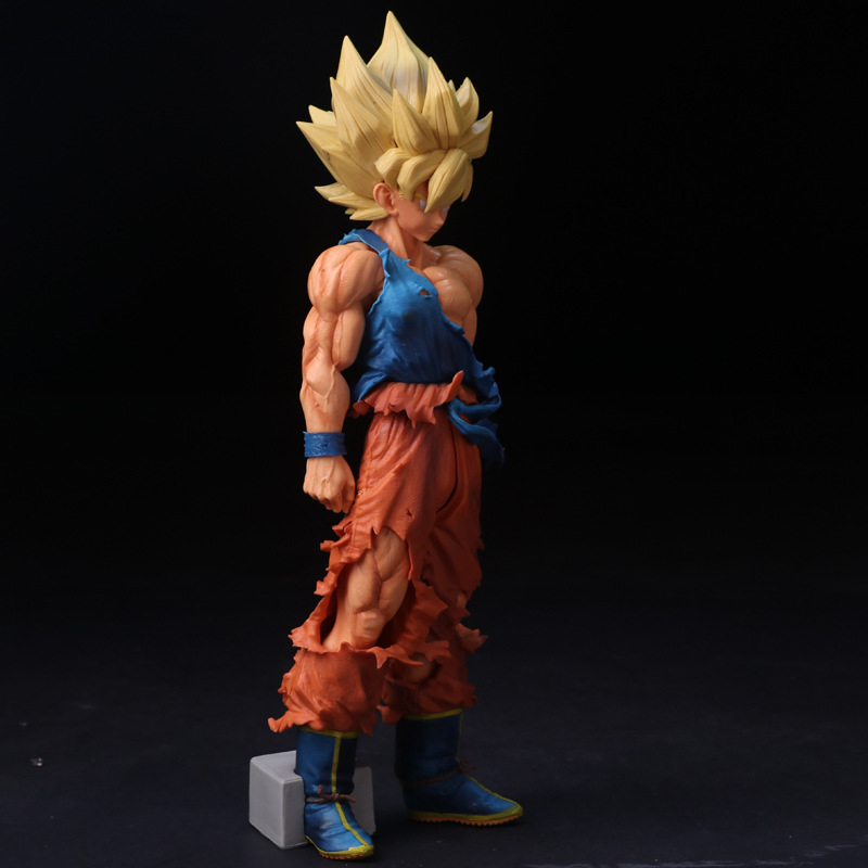 Anime Dragon Ball Z Super Master Stars Piece The Son Goku OverSize 33CM PVC Action Figure Collectible Model Toys Doll DBAF085 anime dragon ball z super master stars piece the vegeta black ver pvc action figure collectible model toys big size 33cm doll