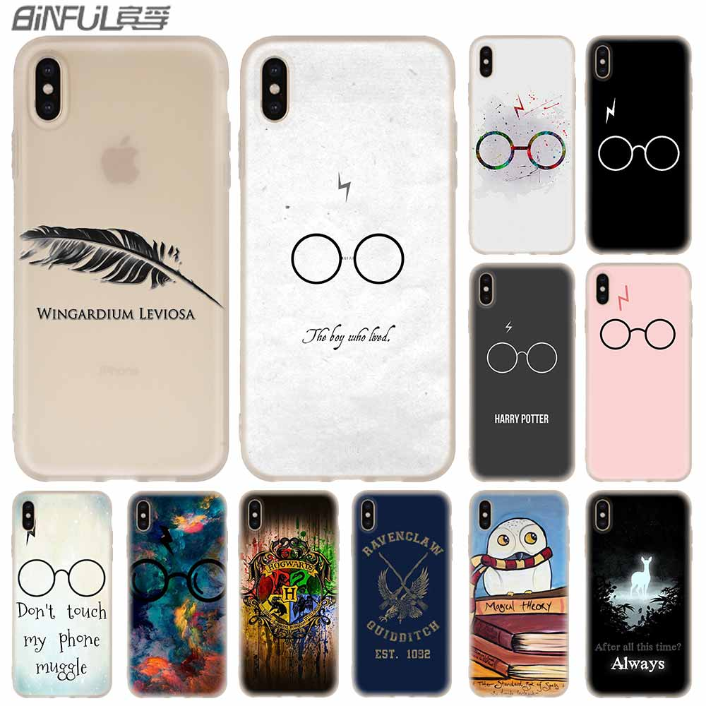 09356a5a63 Cases Silicone soft Cover for iPhone X XS Max XR 6 6S 7 8 Plus 5 4S SE xs  xr Harry Potter Hogwarts