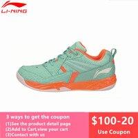 Li Ning Men's Badminton Shoes 2017 Newest Breathable Lining Athletic Sneaker Anti Slippery Sports Shoe Li Ning AYTM079 L716OLC
