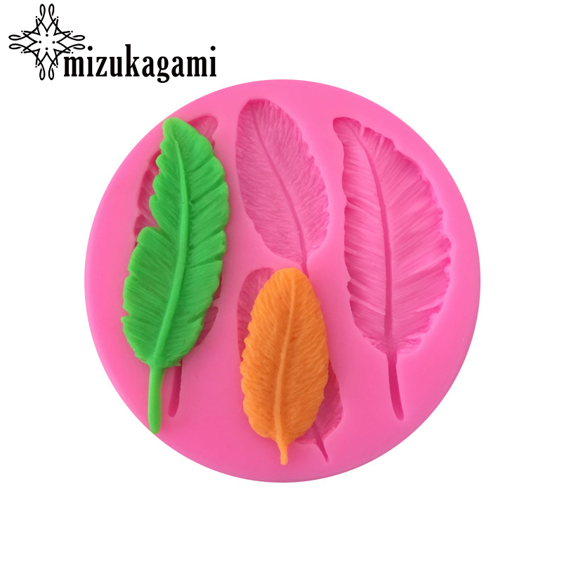 1pcs UV Creative Fashion Scrapbooking Silicone Feather Mould DIY Resin Jewelry Mold Epoxy Resin Molds Accessories