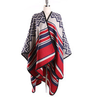 Cashmere Split Shawl Striped Poncho Cape Poncho Patterns Ponchos and Capes Fall 2016 Large Shawls for Woman Stoles Pashmina